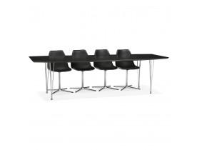 Table à dîner / de réunion extensible 'XTEND' noire - 170(270)x100 cm