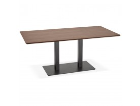 Table / bureau design 'ZUMBA' en bois finition Noyer - 180x90 cm