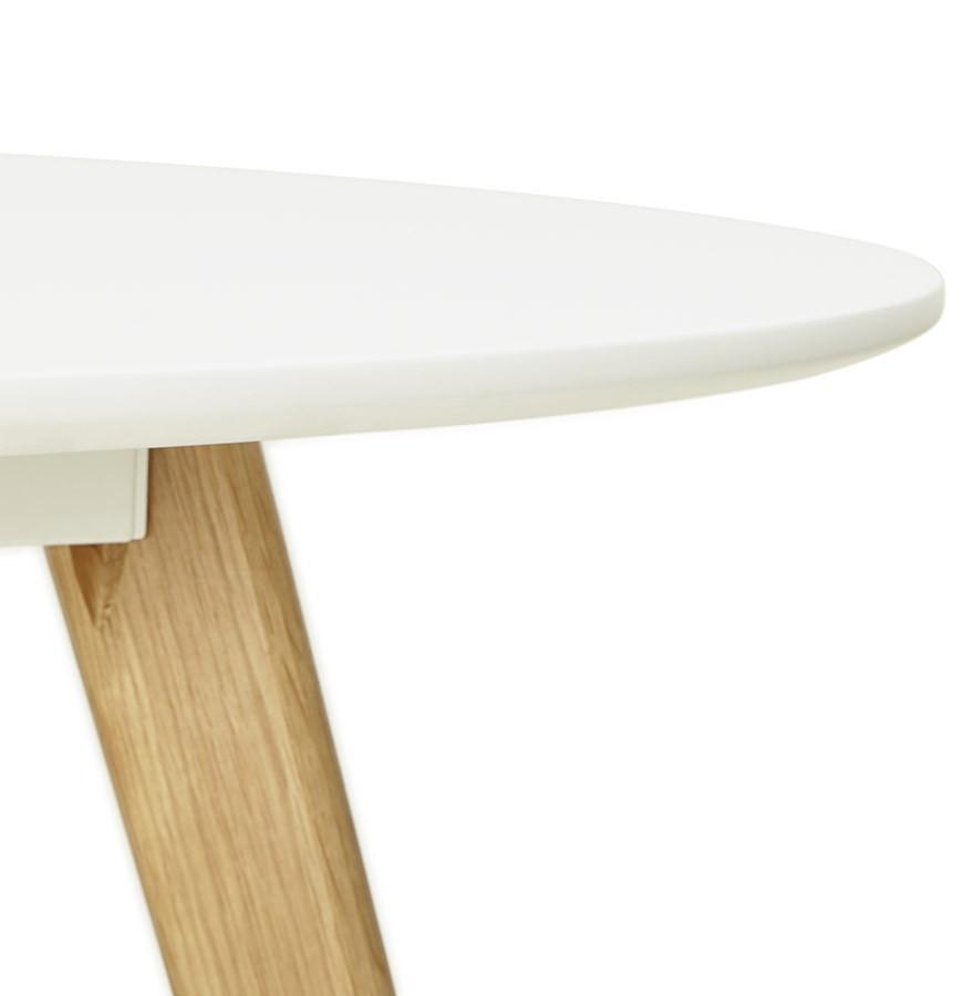 Table de cuisine ronde amy blanche style scandinave for Table cuisine scandinave