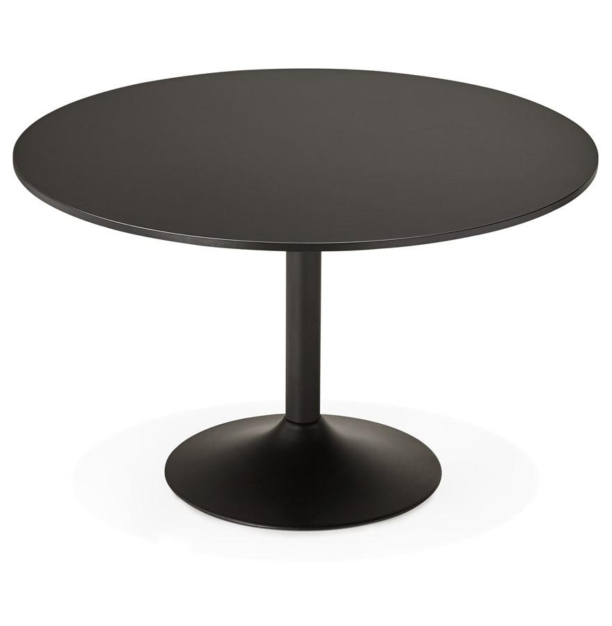 table de bureau ronde noire atlanta 120 cm table diner. Black Bedroom Furniture Sets. Home Design Ideas