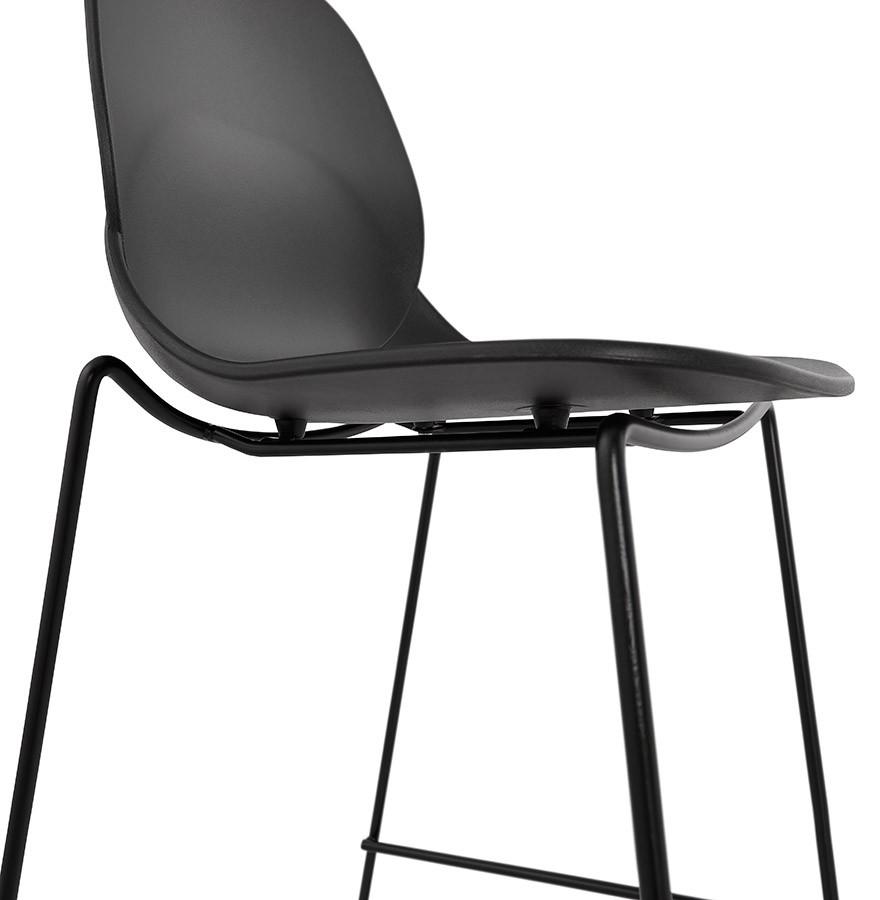 tabouret snack berlin mini noir tabouret mi hauteur moderne. Black Bedroom Furniture Sets. Home Design Ideas