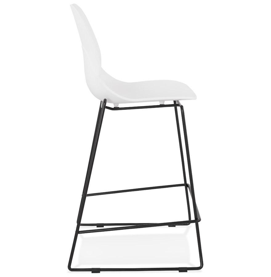 tabouret snack berlin mini blanc tabouret mi hauteur moderne. Black Bedroom Furniture Sets. Home Design Ideas