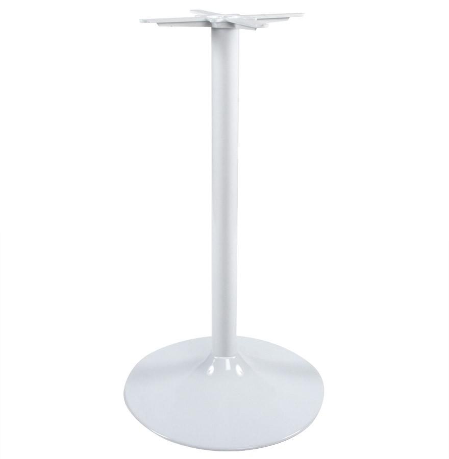 pied de table bianko 110 en m tal peint blanc pour table haute. Black Bedroom Furniture Sets. Home Design Ideas