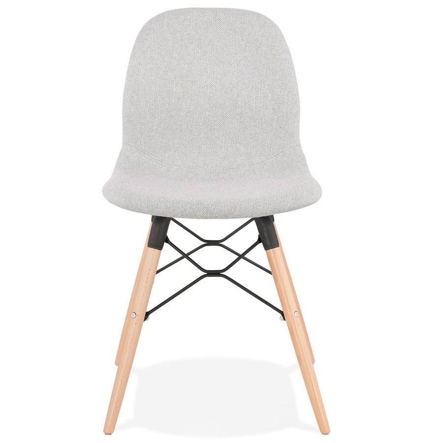 Chaise scandinave BIZON en tissu gris clair Chaise design