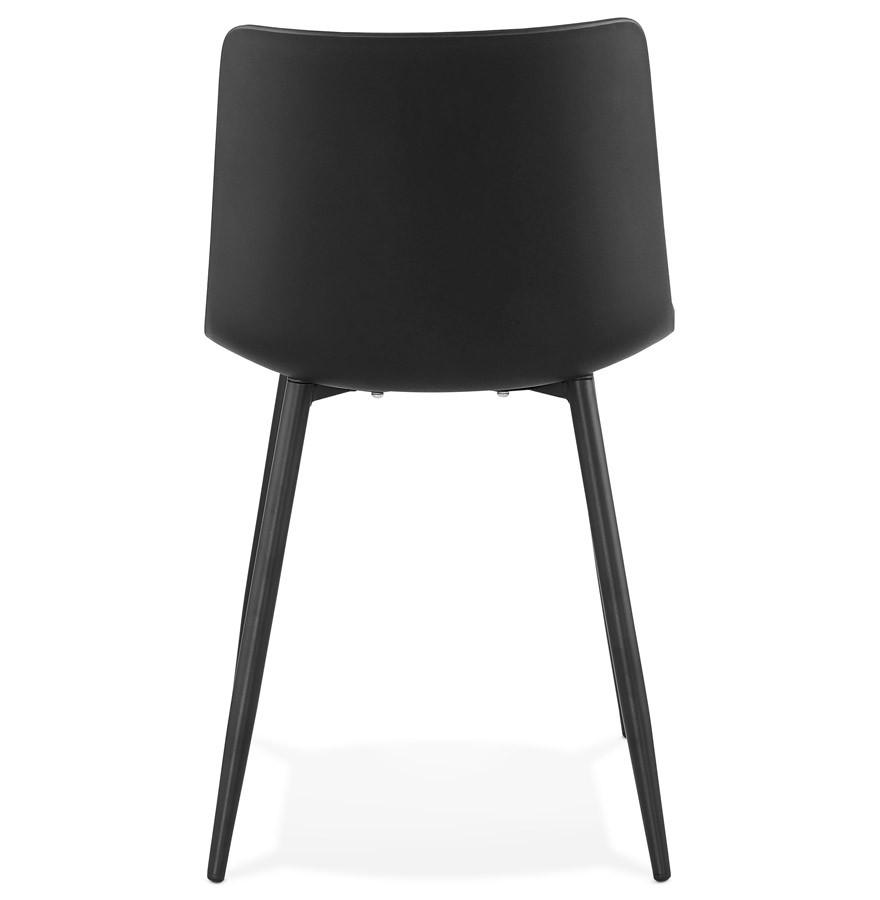 Chaise de cuisine brenda noire chaise moderne for Chaise pour cuisine moderne