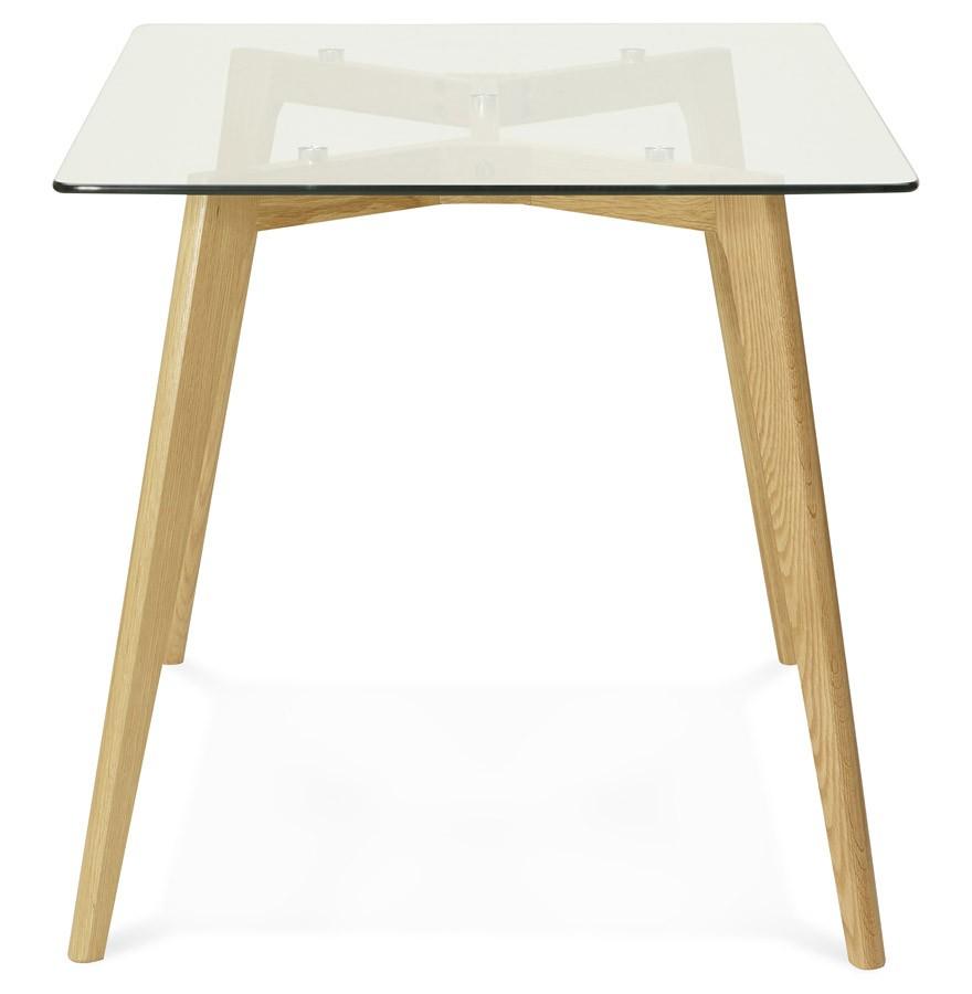 bureau droit bugy en verre petite table design 120x80 cm. Black Bedroom Furniture Sets. Home Design Ideas