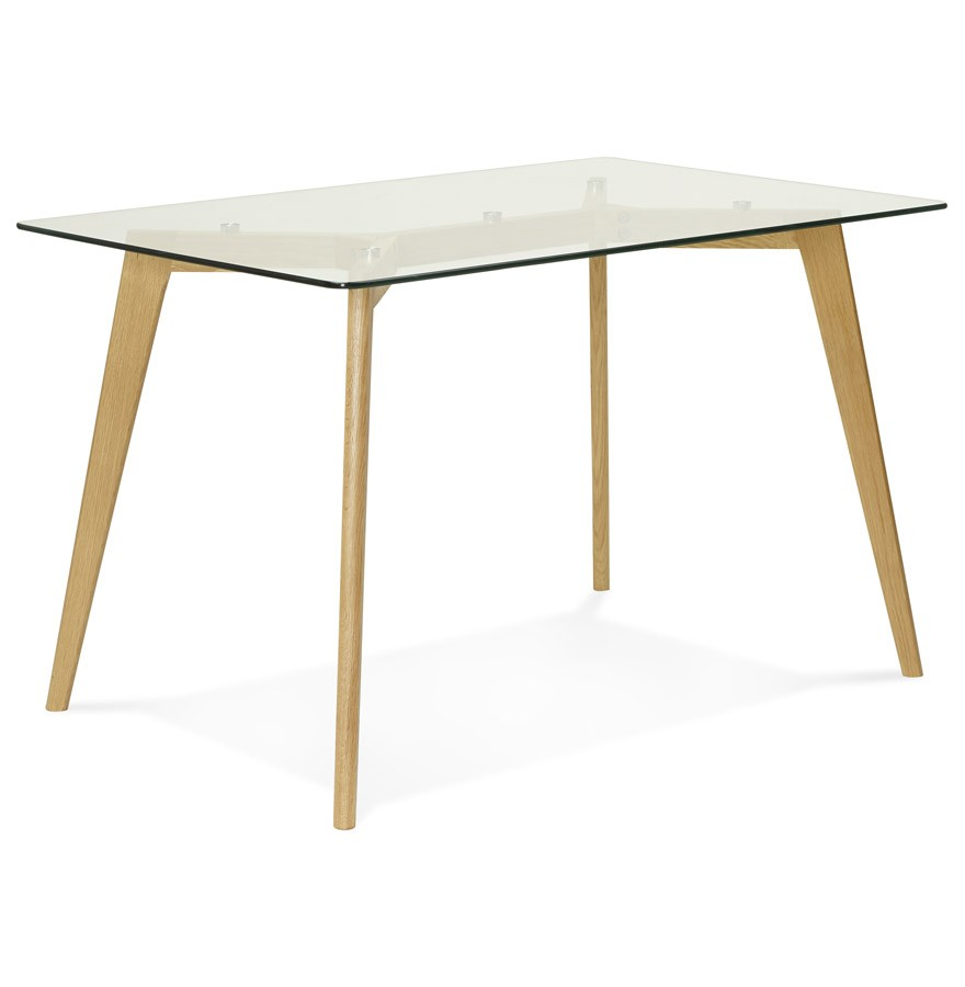 Bureau droit bugy en verre petite table design 120x80 cm for Table en verre but
