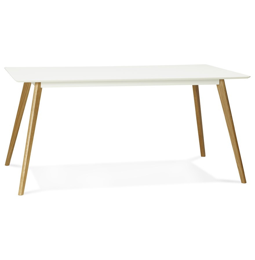 table de cuisine rectangulaire candy blanche bureau droit. Black Bedroom Furniture Sets. Home Design Ideas