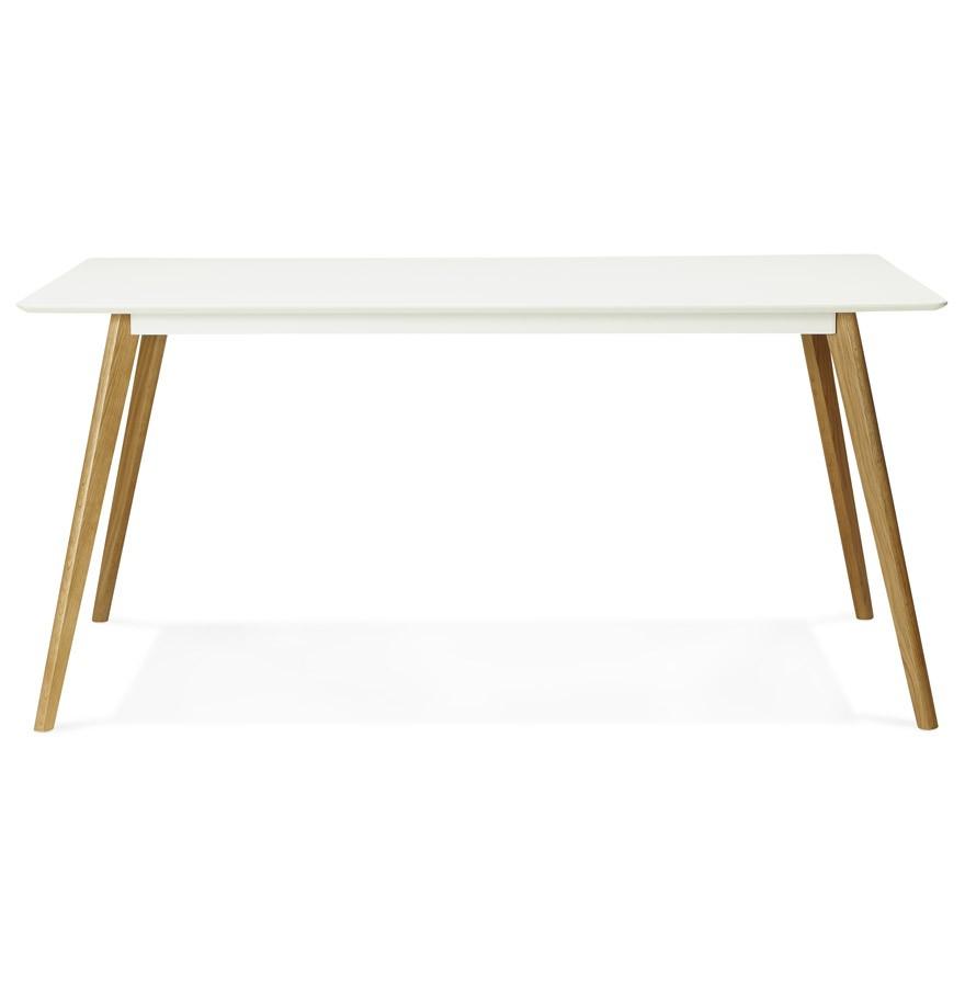Table de cuisine rectangulaire candy blanche bureau droit for Table de bureau blanche