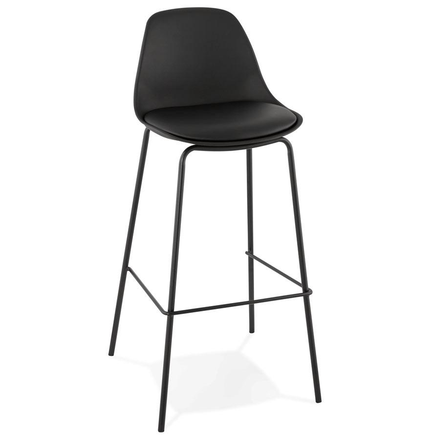 tabouret de bar cookie noir style industriel tabouret design. Black Bedroom Furniture Sets. Home Design Ideas