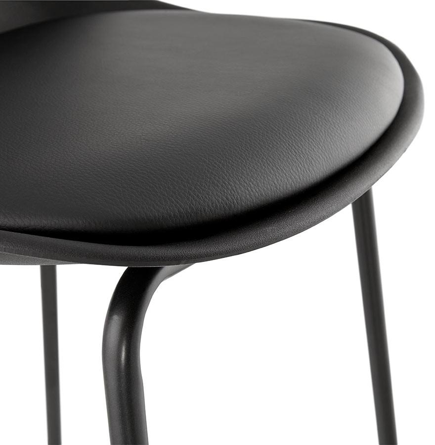 tabouret snack mi hauteur cookie mini noir style industriel. Black Bedroom Furniture Sets. Home Design Ideas