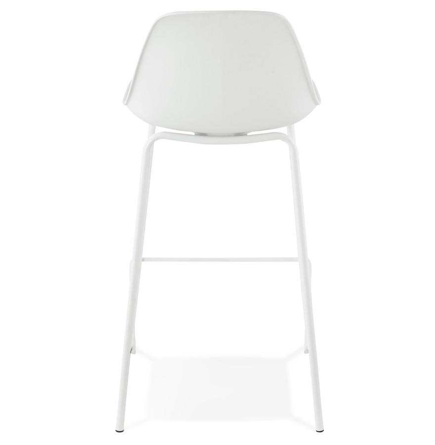 tabouret snack mi hauteur cookie mini blanc style industriel. Black Bedroom Furniture Sets. Home Design Ideas