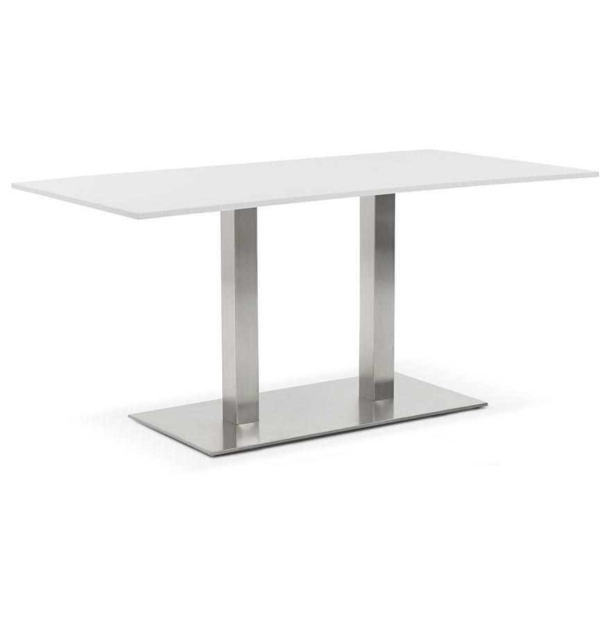 table de r union denver blanc 160x80 cm bureau design. Black Bedroom Furniture Sets. Home Design Ideas