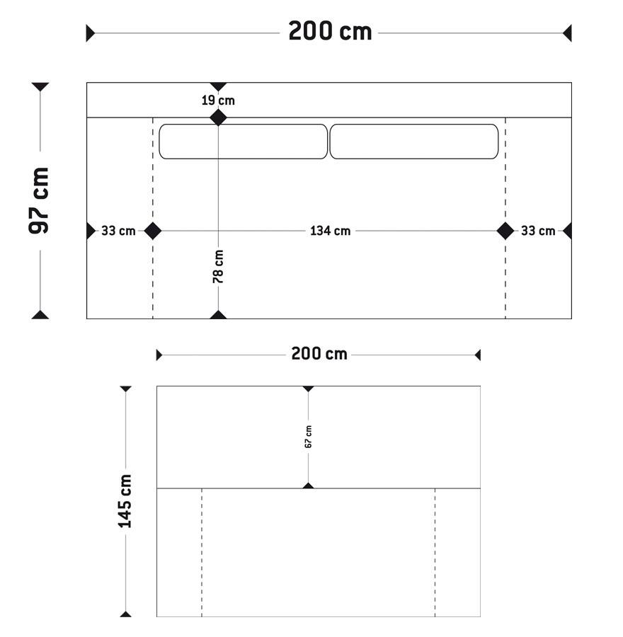 canap lit convertible waza en tissu gris fonce dimensions - Dimension Canape Lit