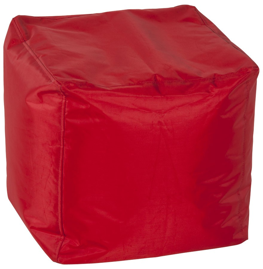 pouf d 39 appoint easy rouge pouf design. Black Bedroom Furniture Sets. Home Design Ideas