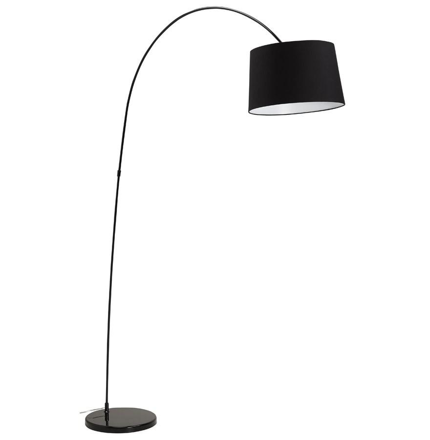 lampadaire arqu eklips noir luminaire design. Black Bedroom Furniture Sets. Home Design Ideas