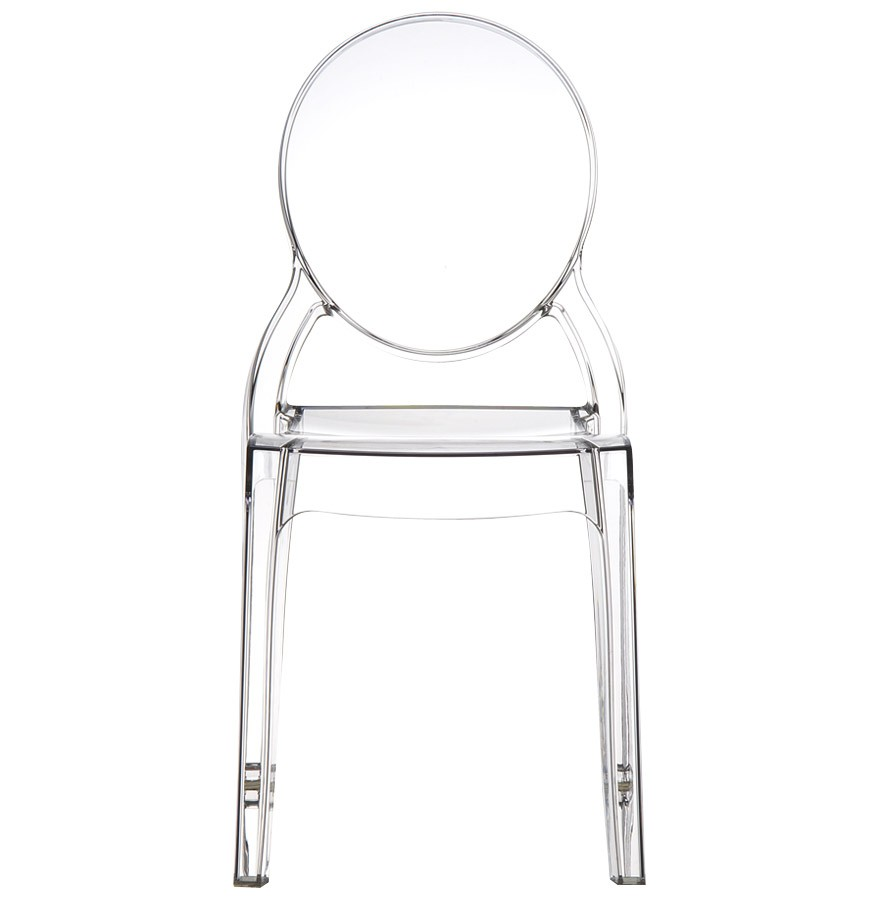 Chaise m daillon eliza transparente chaise design - Chaise medaillon transparente ...