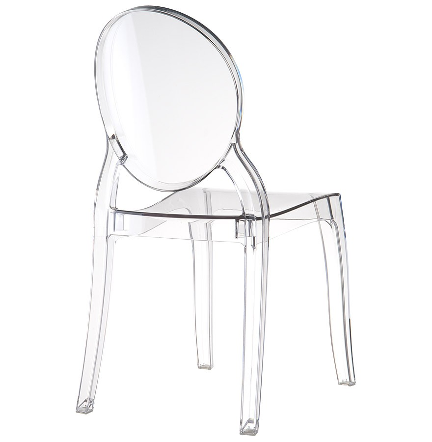 Chaise Medaillon ELIZA En Plastique Transparent
