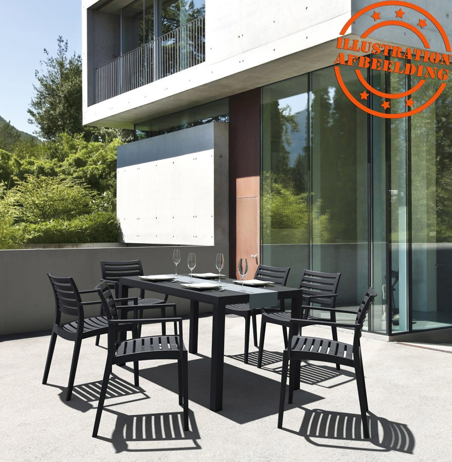Table de jardin ENOTECA design blanche - 140x80 cm