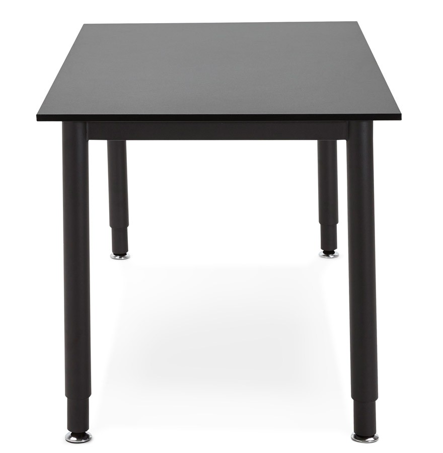 bureau design focus noir table de r union 160x80 cm. Black Bedroom Furniture Sets. Home Design Ideas