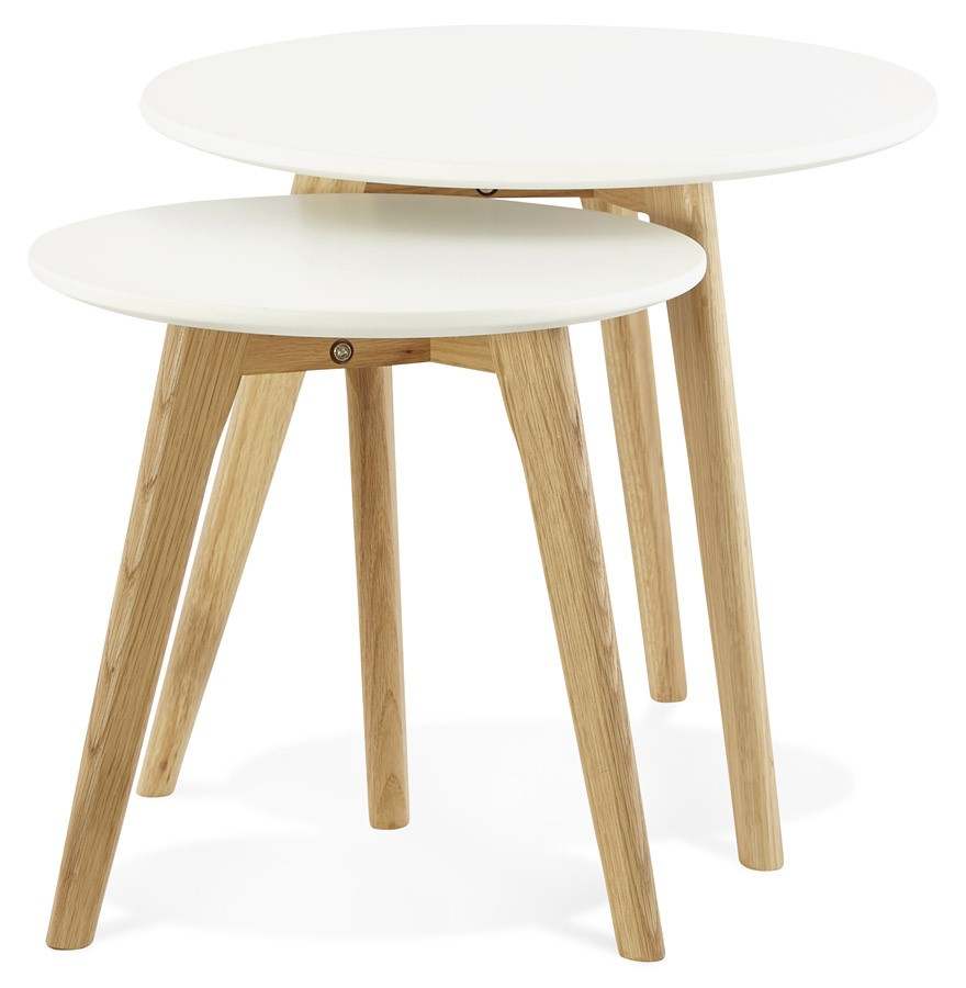 Tables Gigognes Ronde Gaby Style Scandinave