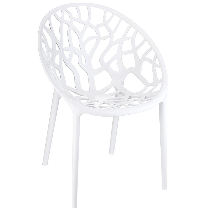 Chaise moderne originale geo blanche chaise arbre for Chaise contemporaine blanche