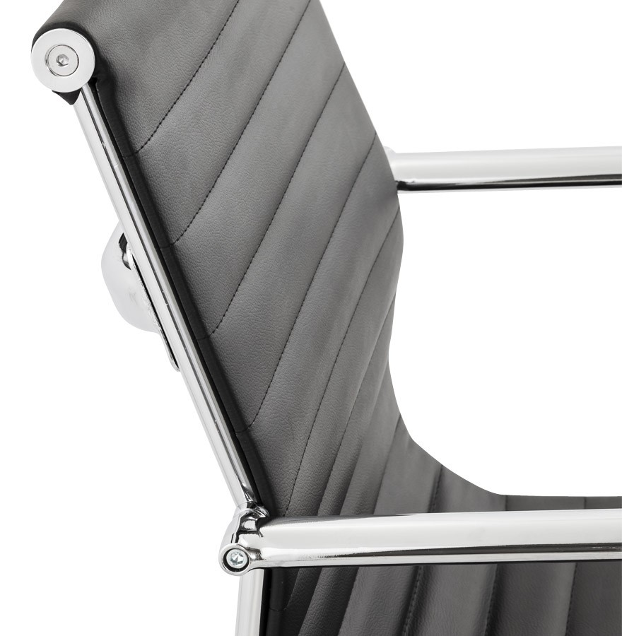 Chaise De Bureau Design GIGA En Similicuir Noir