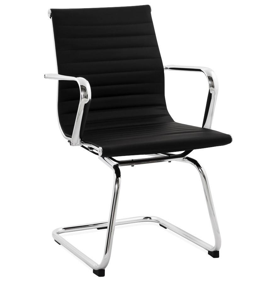 Chaise De Bureau Design GIGA En Matire Synthtique Noire
