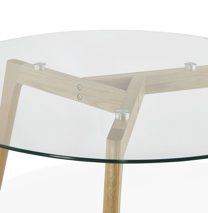 Table basse de salon ronde glazy en verre table design for Table ronde verre design