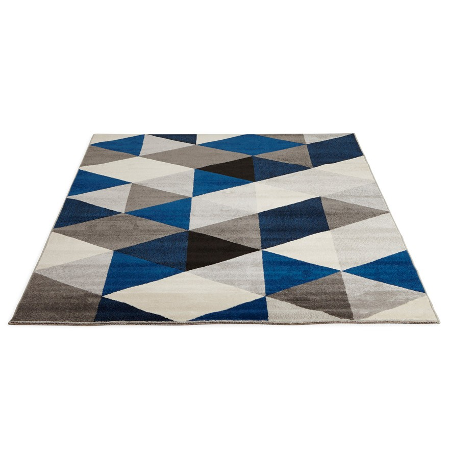 tapis design grafik grand tapis de salon aux tons bleus. Black Bedroom Furniture Sets. Home Design Ideas