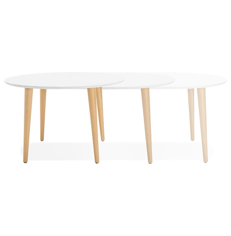 table d ner ronde extensible iglou style scandinave