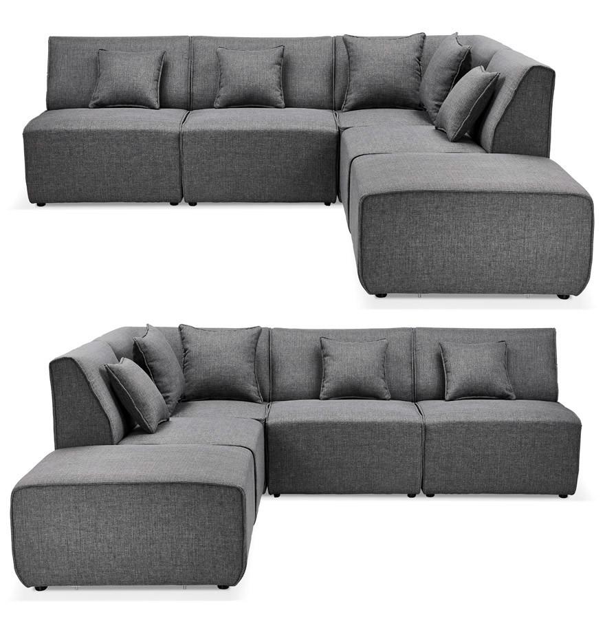 canap modulable infinity combi gris fonc canap d 39 angle design. Black Bedroom Furniture Sets. Home Design Ideas