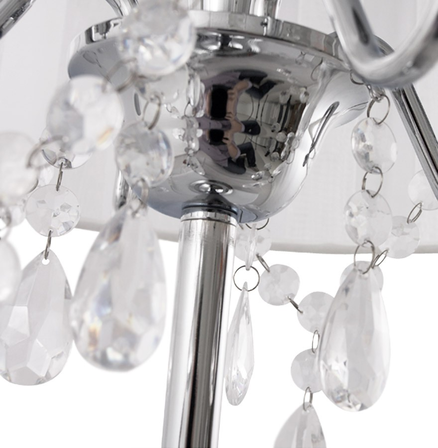 Blanche Baroque Design À De Klassik Chevet Pampilles Lampe gv7ybmIYf6