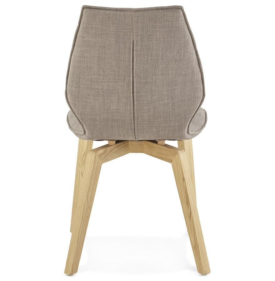 Chaise design linda en tissu chaise au style scandinave - Chaise scandinave tissu gris ...