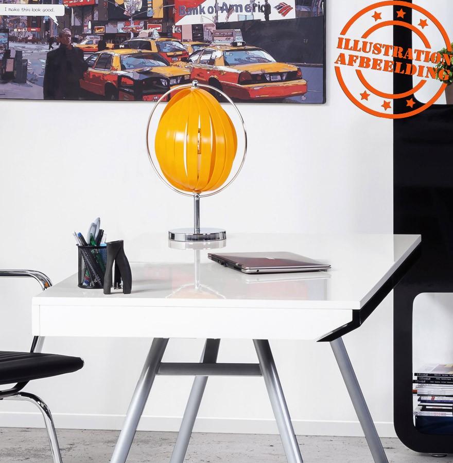 Luna Orange Lampe Lamelles De Poser Avec Plastique À Table c3T1JlFKu5