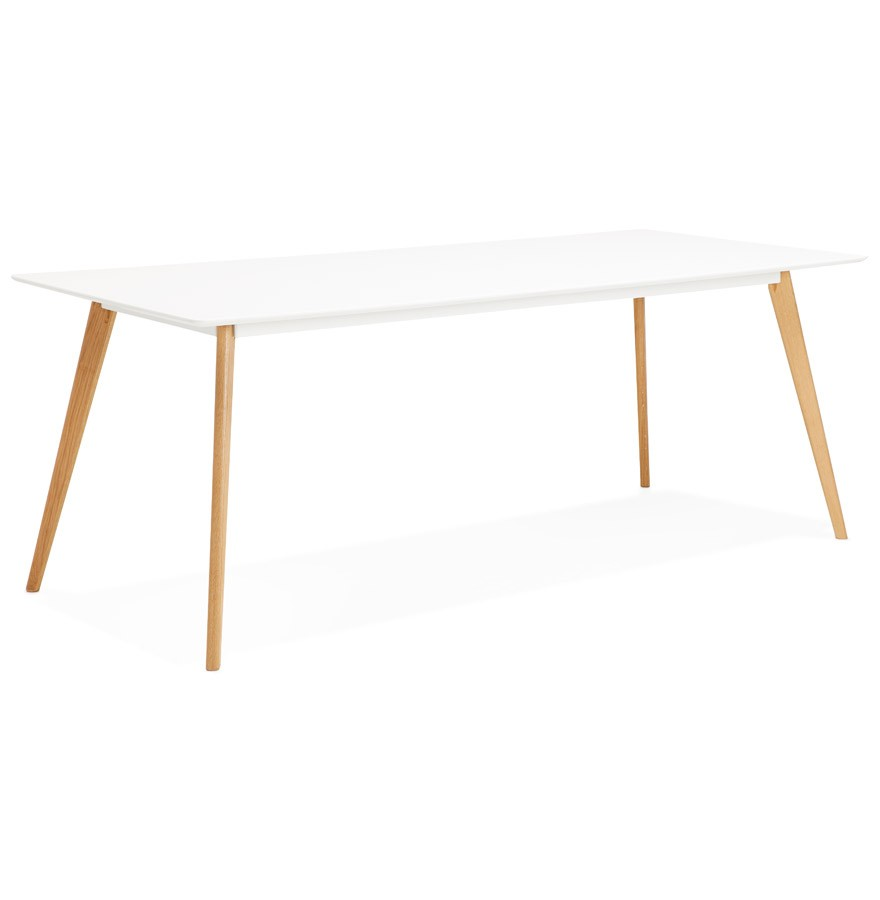 Table manger design mady blanche style scandinave 200x90 cm - Table a manger style scandinave ...