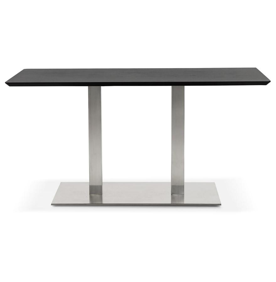 Table de r union mambo noir 150x70 cm bureau design for Table bureau noir
