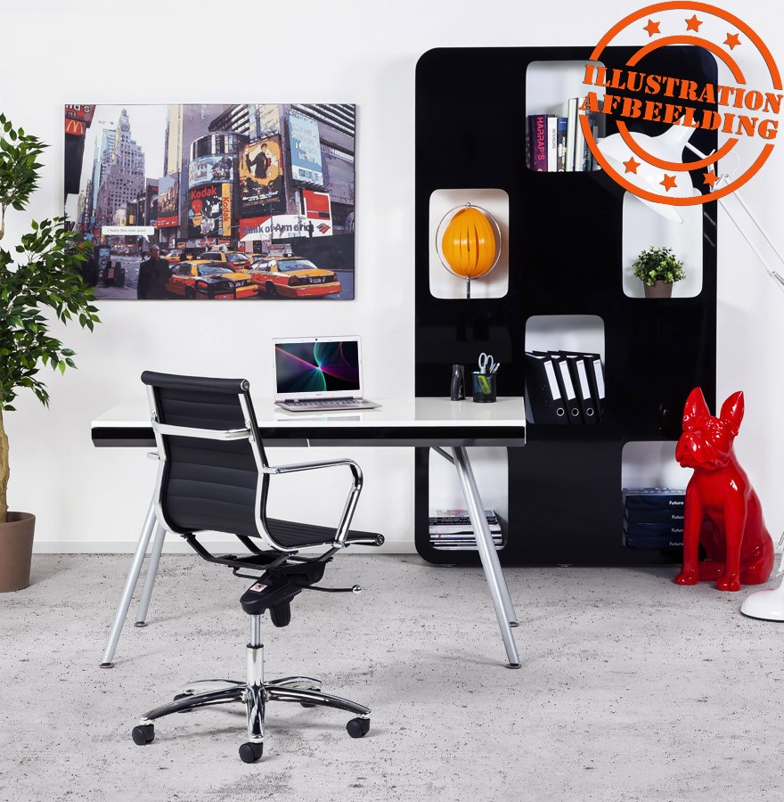 fauteuil de bureau design mega en similicuir noir. Black Bedroom Furniture Sets. Home Design Ideas