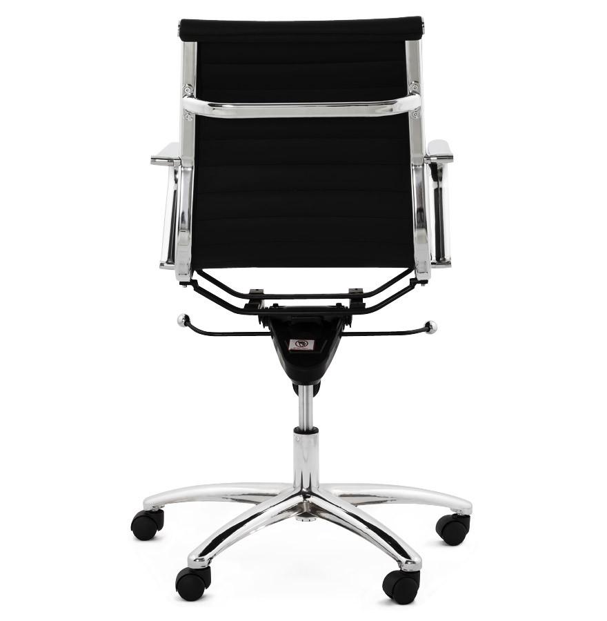 fauteuil de bureau design mega en similicuir noir. Black Bedroom Furniture Sets. Home Design Ideas
