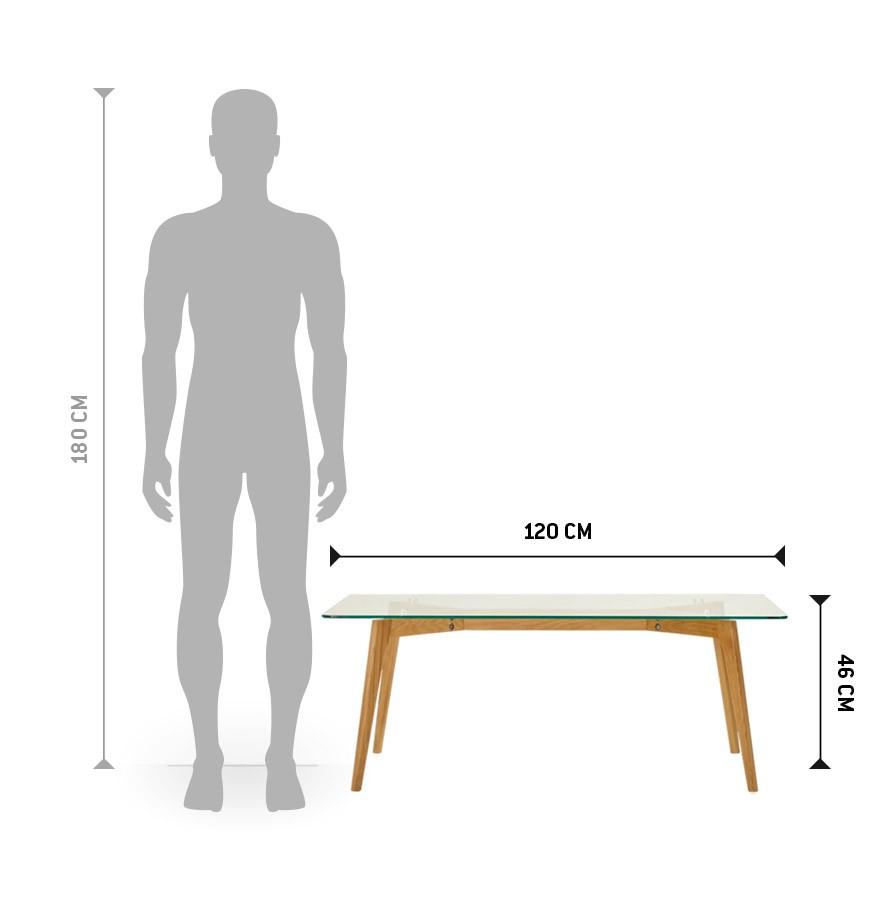 table basse de salon design moly en verre dimensions - Table Basse Dimension