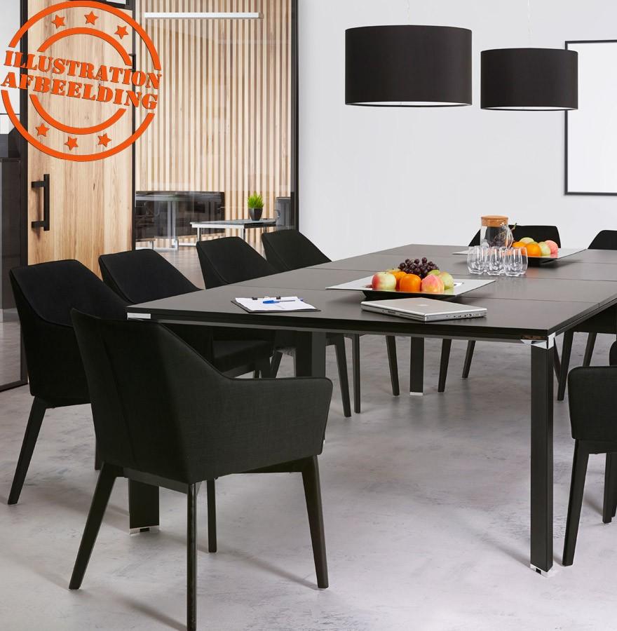 Chaise Moderne NANO En Tissu Noir Avec Accoudoirs