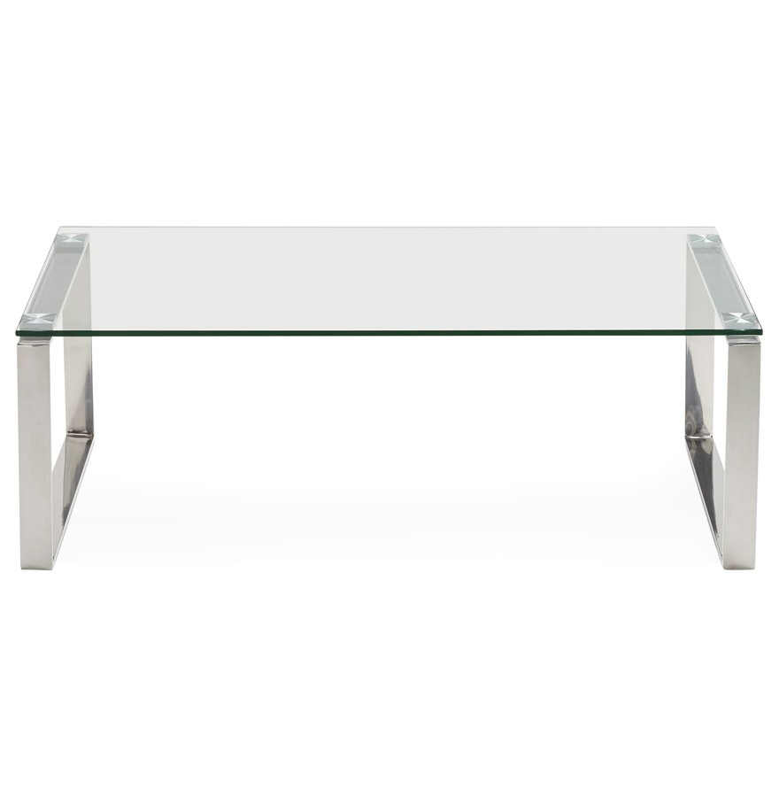 Taille Table Basse Standard table basse de salon en verre nebraska - table design
