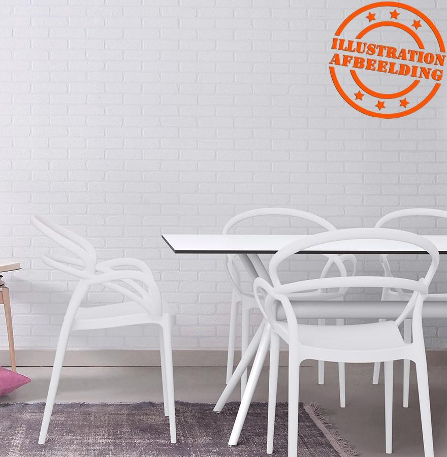 Table de jardin OCEAN design blanche - 180x90 cm