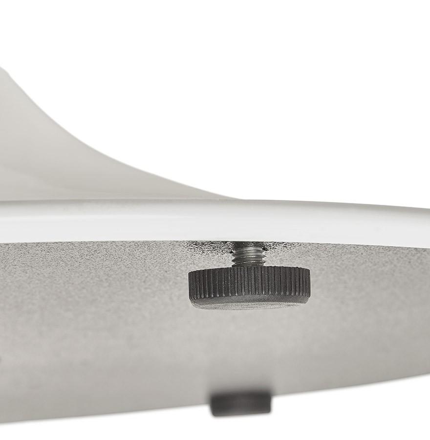 Table de bureau ronde blanche orlando 120 cm table for Table de bureau blanche