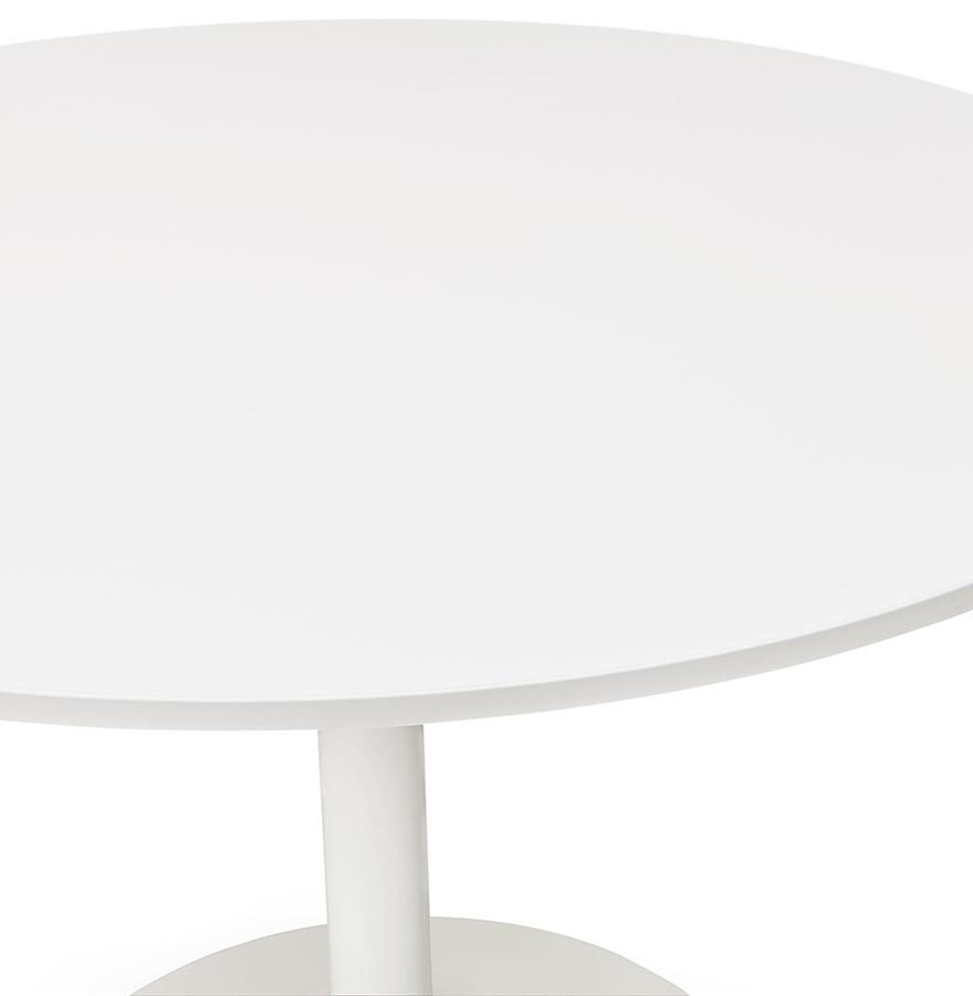 Table de bureau ronde blanche orlando 90 cm table diner for Table de bureau blanche