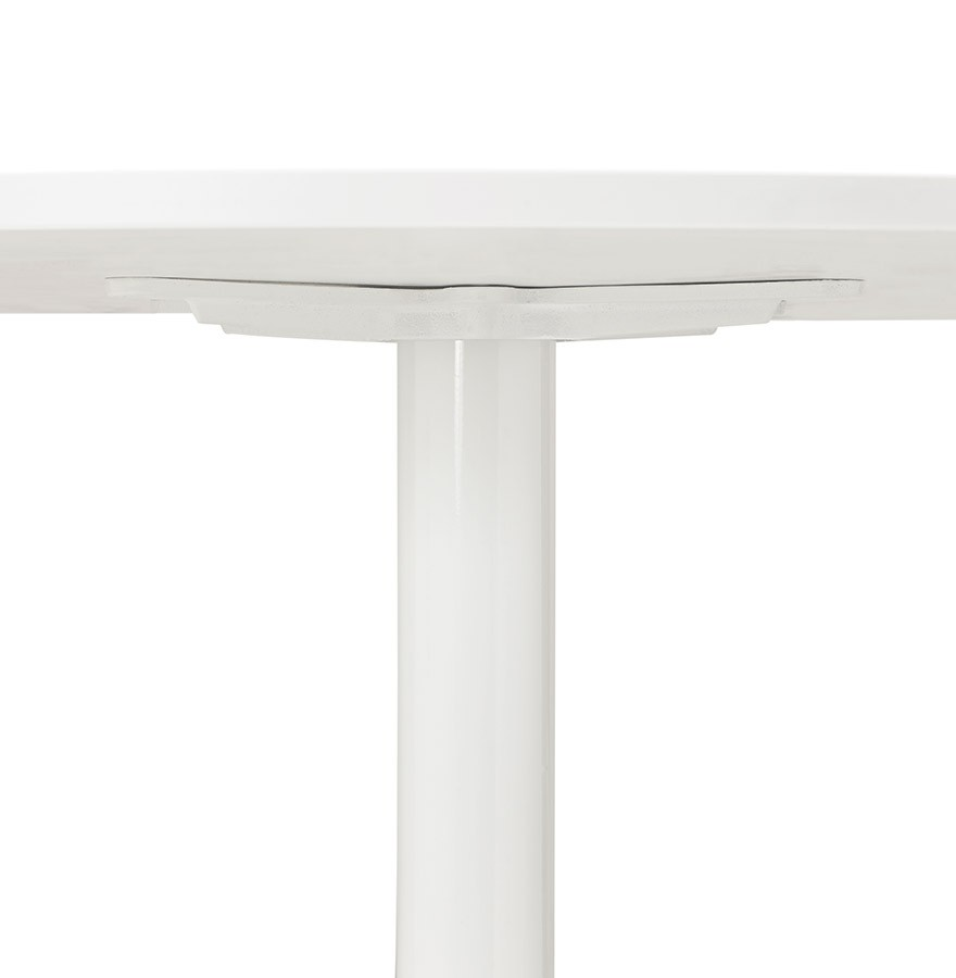 Table de bureau ronde blanche orlando 90 cm table diner - Bureau 90 cm de large ...