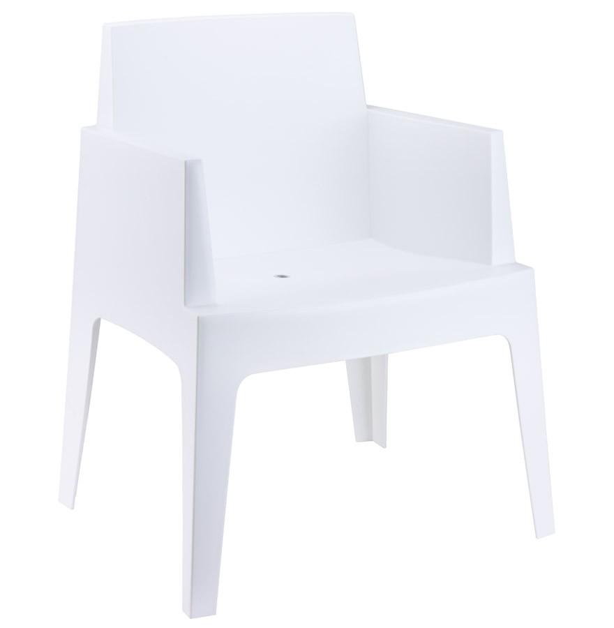 chaise design plemo blanche en matire plastique - Chaise Design Plastique