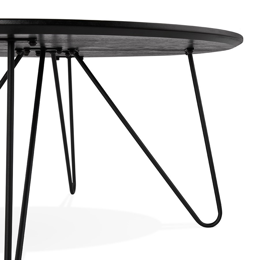 table basse de salon pluto noire style industriel table design. Black Bedroom Furniture Sets. Home Design Ideas