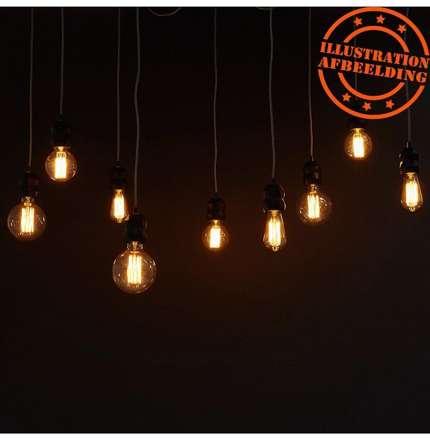 Suspension araign e rainy 9 soquets lampe multiple for Suspension grosse ampoule design