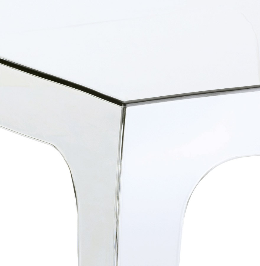 Table d 39 appoint retro transparente petite table design for Table d appoint transparente